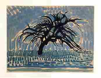 """Piet Mondrian serigraph """"L'arbre bleu"""""""