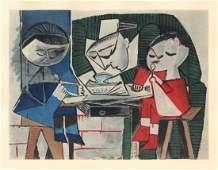 Pablo Picasso pochoir - Le repas   Venti Pochoirs