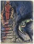 Marc Chagall Ahasuerus Banishes Vashti original Bible