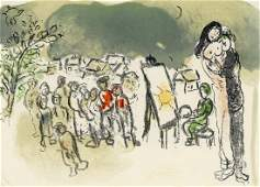 Marc Chagall original lithograph Hommage a Julien
