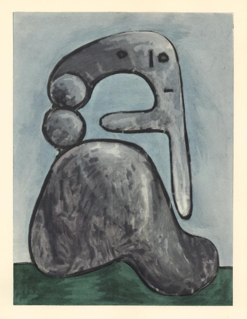 Pablo Picasso pochoir - Femme nu   Venti Pochoirs