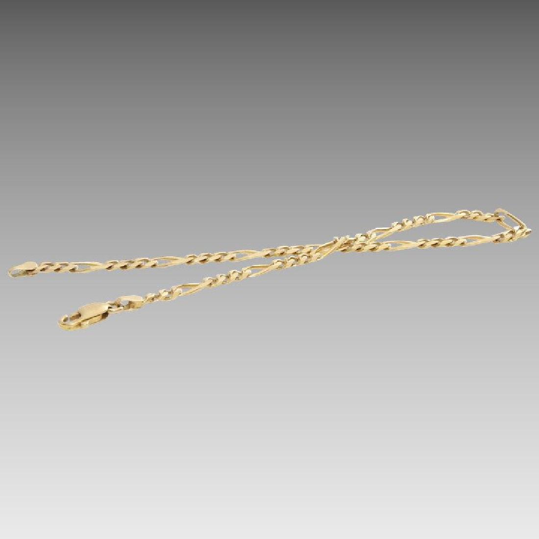 Gold Link Bracelet | 14K Yellow Chain | Vintage Italy