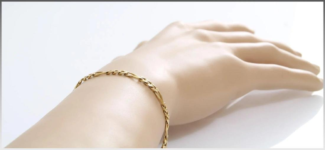 Gold Link Bracelet | 14K Yellow Chain | Vintage Italy - 2