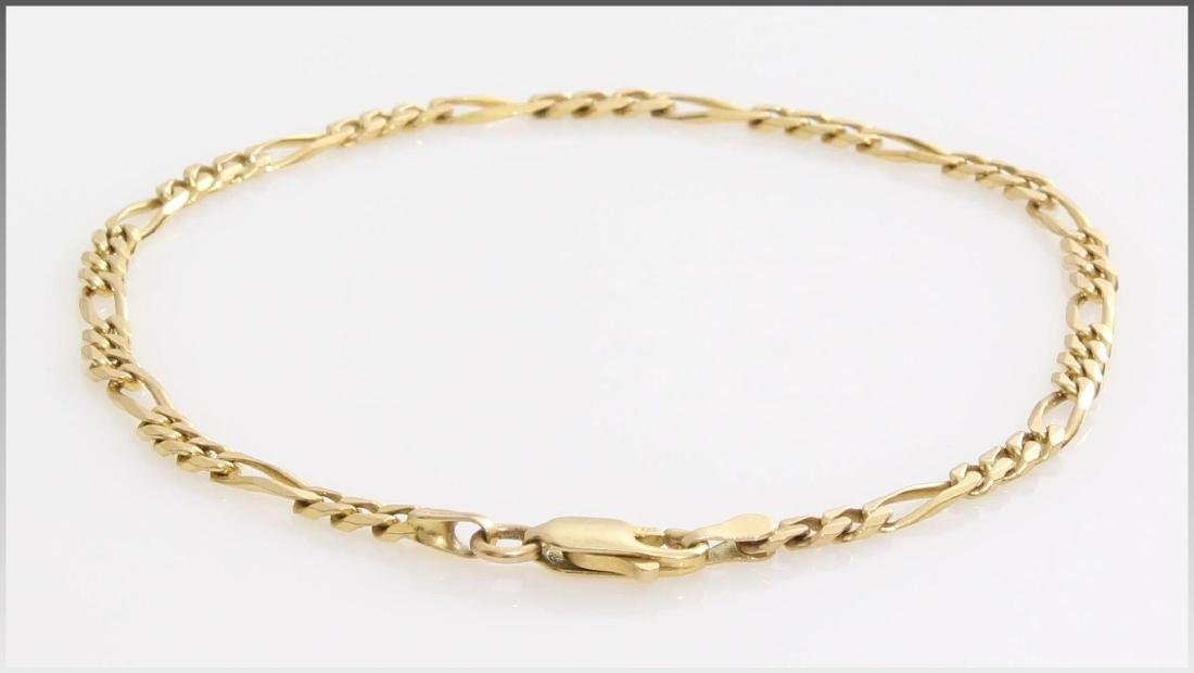 Gold Link Bracelet | 14K Yellow Chain | Vintage Italy - 3