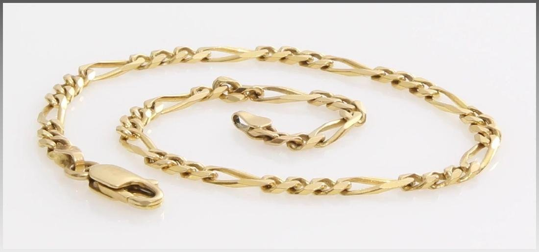Gold Link Bracelet | 14K Yellow Chain | Vintage Italy - 7