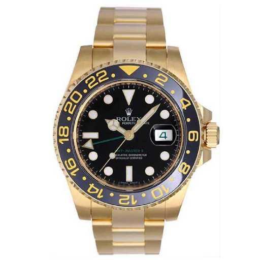 Rolex Gmt Master Ii Men S Yellow Gold Watch 116718