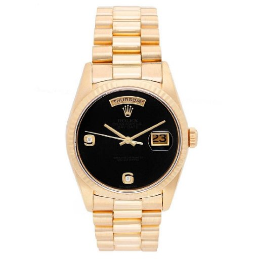 Rolex Yellow Gold President Day Date Onyx Dial