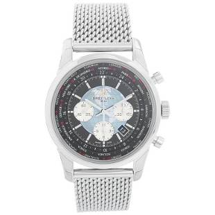 Breitling Transocean Chronograph Unitime Stainless