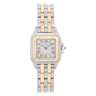 Cartier Panther Ladies 2-Tone 2-Row Steel & Gold Watch