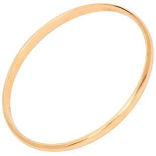 Tiffany & Co. Yellow Gold Oval Bangle Bracelet