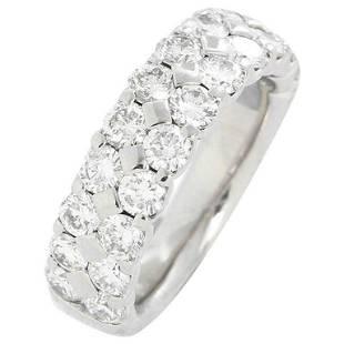 Amazing Platinum 2-Row Diamond Ring