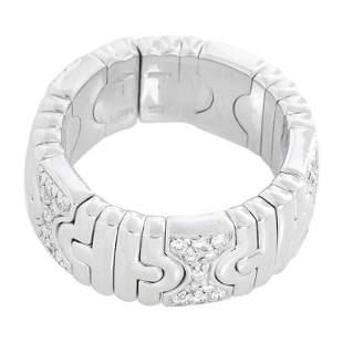 Bulgari 18 Karat White Gold Expandable Parentesi Ring,