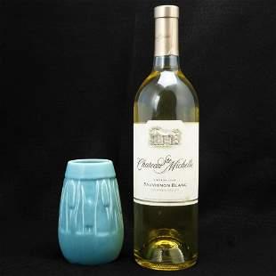 Mid-century Rookwood Cattail Blue Vase 1946