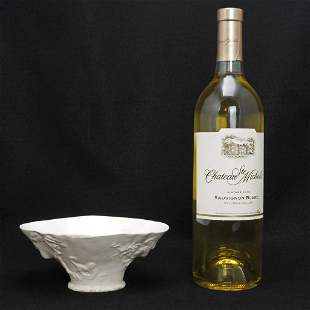 Vintage Chinese White Porcelain Libation Cup with