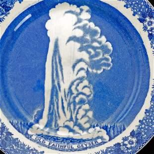 Yellowstone Old Faithful Geyser Souvenir Plate