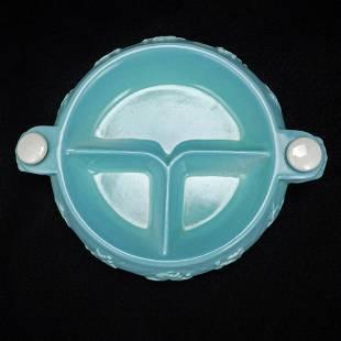 Mid-century Hankscraft Turquoise Nursery Rhyme Baby