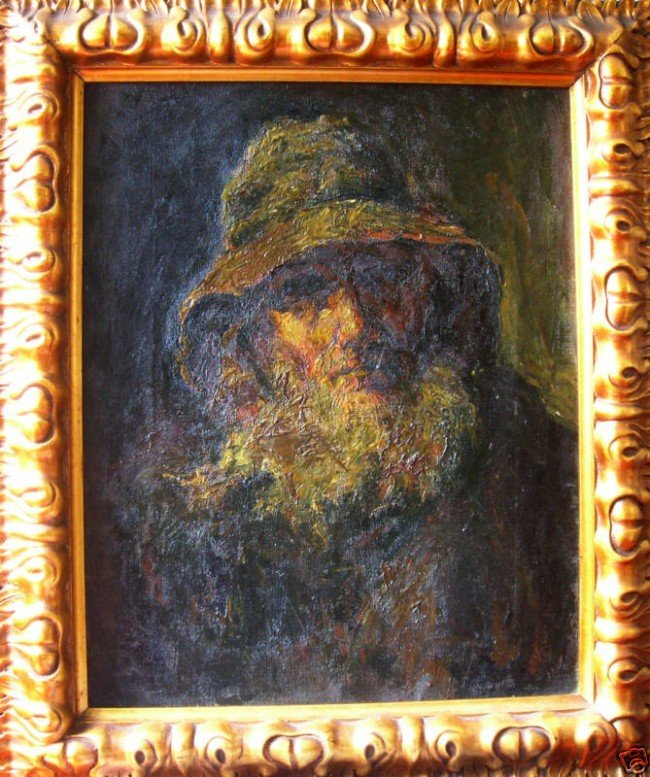 8: 19th Cent. Original Art Italian Oil Painting Portrai