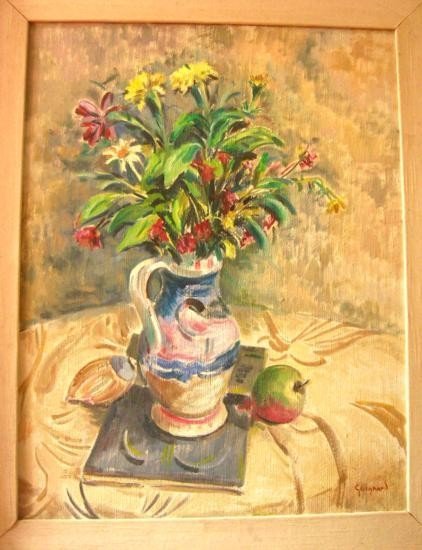 20: Att Alberto Guignard Original Oil Painting, Flower