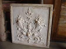 601: Plaster Bas Relief on Wood Plaque