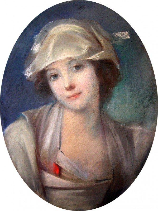 1: Att. Maurice Quentin De Latour Pastel Painting Portr