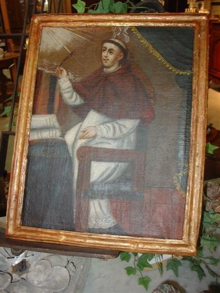 2: 17th Century Oil Painting Art with Same Period Frame