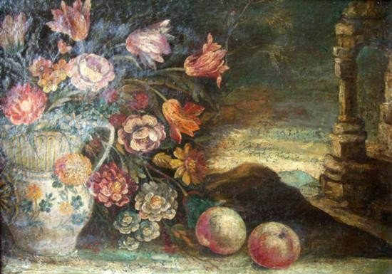 5: Att. Tomas Hiepes Oil Painting Still Life, Original