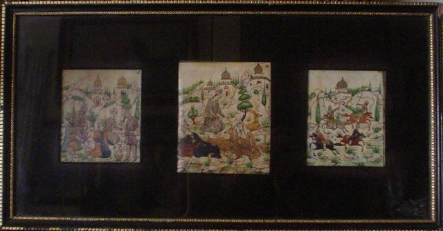 21: Amazing Original Art Persian Painting With Gold Det