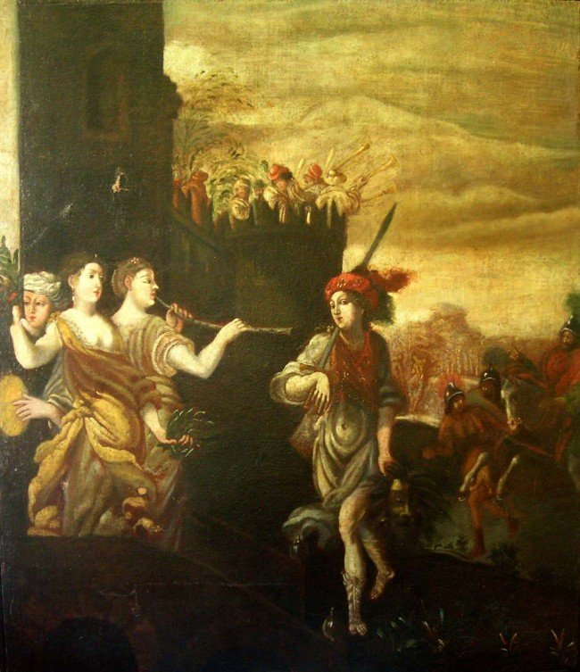 26: At Pietro Liberi Oil Painting Original Art Baroque