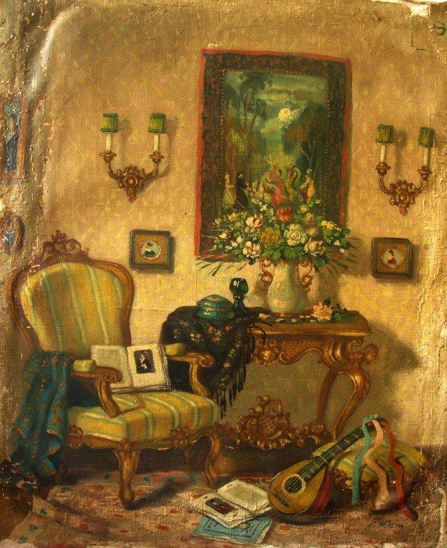 48: Patrick W. Adam Oil Painting Original Art Interior