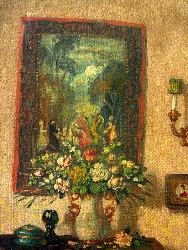 48: Patrick W. Adam Oil Painting Original Art Interior  - 3