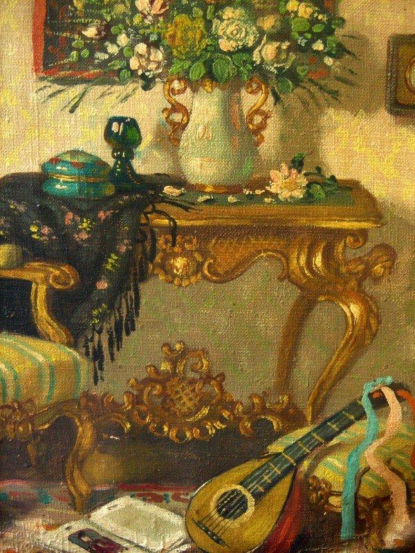 48: Patrick W. Adam Oil Painting Original Art Interior  - 4