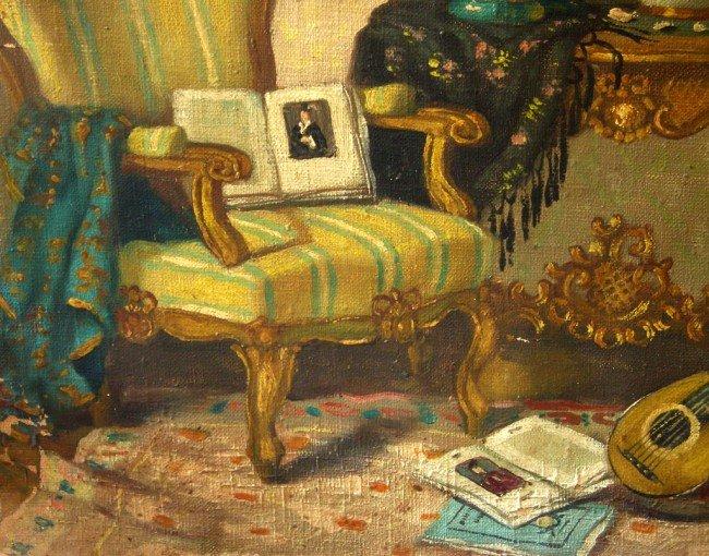 48: Patrick W. Adam Oil Painting Original Art Interior  - 5
