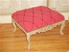 313: French Bench Stool Coffee Table Louis XV Carved C.