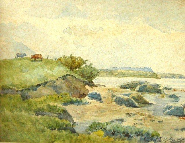 7: Francis C. B. CADELL Watercolor Original Art Lands