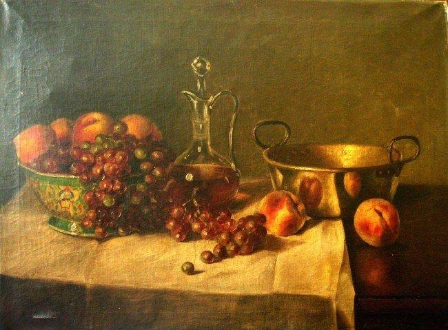 10: At Gustave Courbet Oil Painting Original Art Still