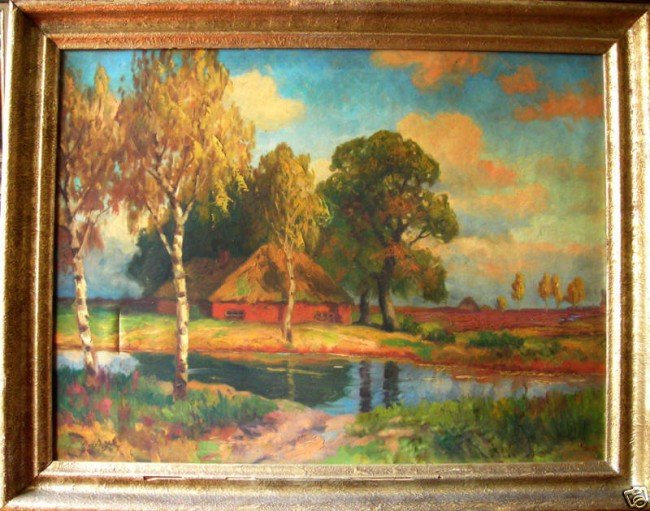 19: Robert Bereny Oil Painting Original Art, Landscape
