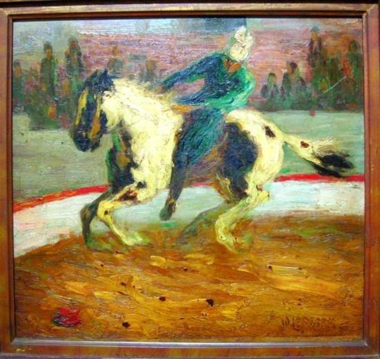 24: Amazing LEFEBRE Wilhelm Oil Painting Horse Original