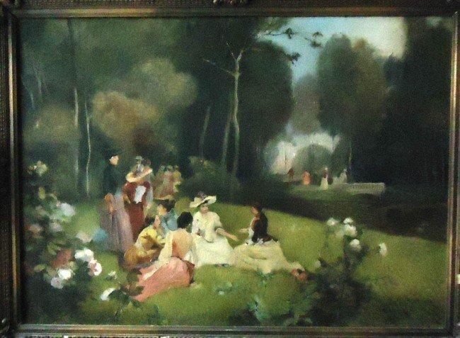 4: Att. Willam Hogarth Oil Painting Original Art, Woo