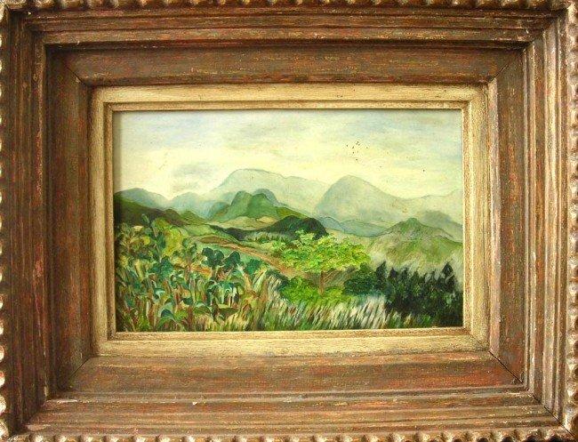 12: Willard Leroy Metcalf Oil Painting Landscape