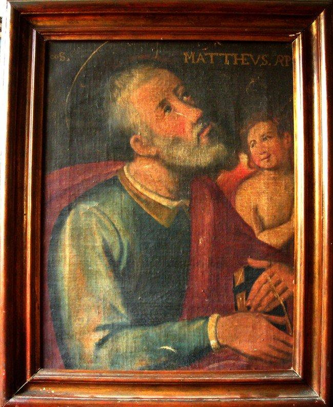 21: 18th Joseph de Paz Oil Painting Original, Mattheus