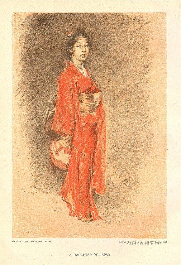 "145: Robert Frederick Blum ""A Daughter of Japan"" chromo"
