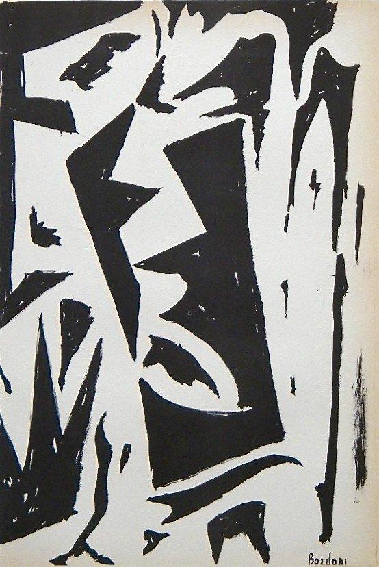 192: Enrico Bordoni original lithograph | Groupe Espace