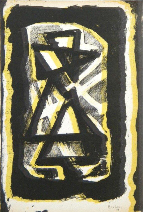 195: Enrico Bordoni original lithograph | Arte Concreta