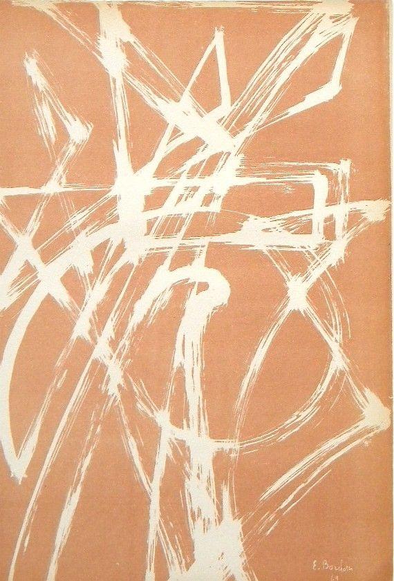 Enrico Bordoni original lithograph   Arte Concreta