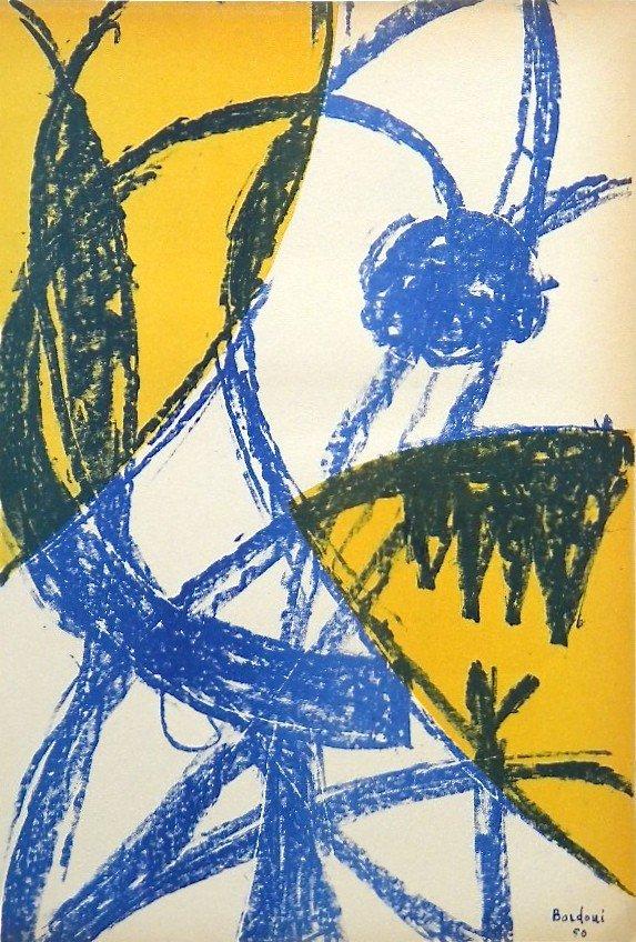 197: Enrico Bordoni original lithograph   Arte Concreta
