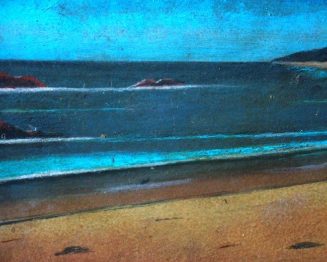 Jose Pancetti Oil Painting Original Art The Beach