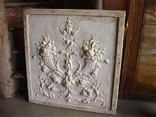 Plaster Bas Relief on Wood Plaque