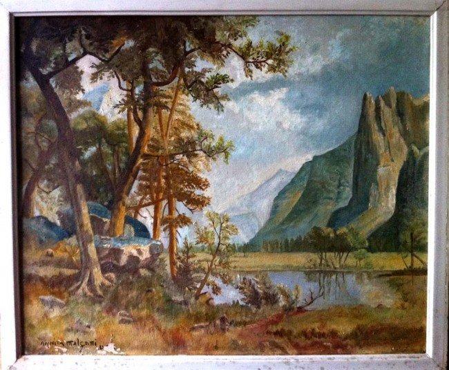 Anita Malfatti Oil Painting Original Art USA Landscape