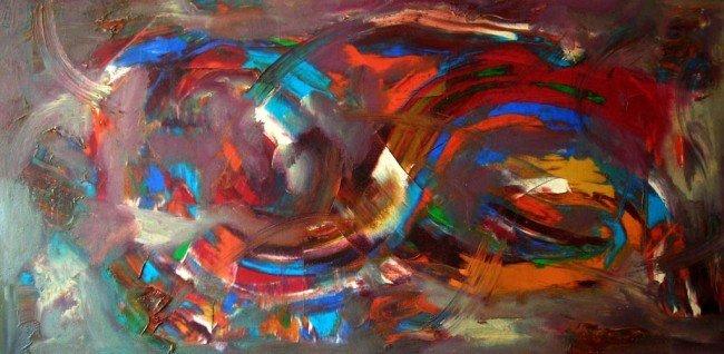 Karl Otto Gotz Oil Painting Original Art Abstract