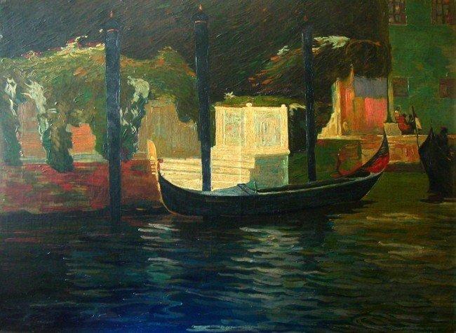 John Singer Sargent Oil Painting Original City Canal